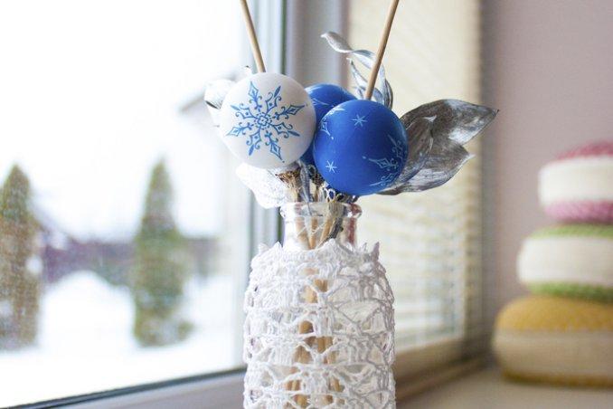 addobbi natalizi fai da te uncinetto, come fare coprivaso uncinetto