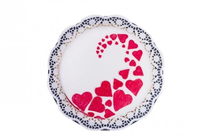 torte san valentino pasta di zucchero, cake design san valentino