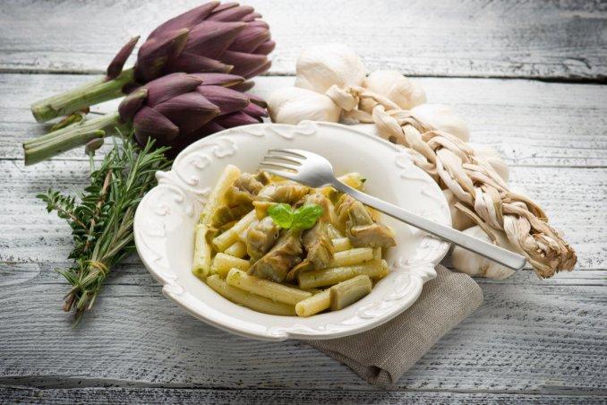carbonara di carciofi, cucina vegetariana, ricette vegetariane