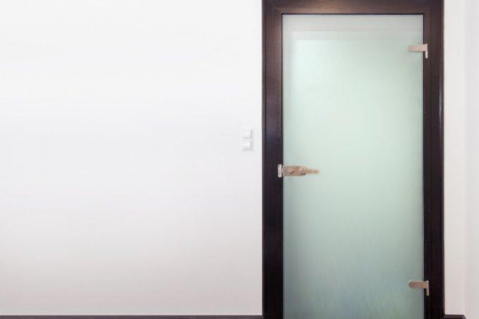 porta, vetro satinato, come pulire