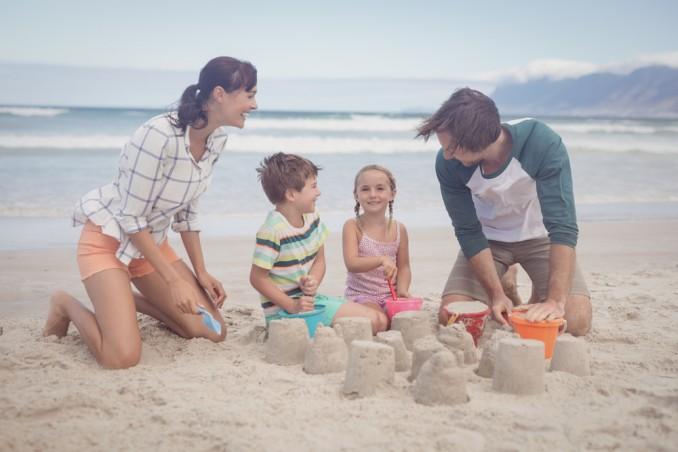 costruire castello sabbia