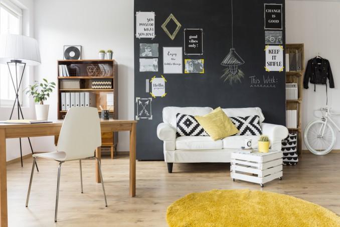 Pareti Con Fotografie : Come decorare una parete con la vernice lavagna donnad
