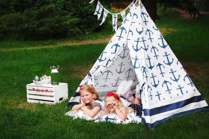 Come costruire una tenda per bambini in giardino donnad