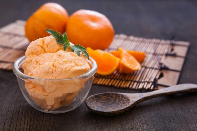 gelato arancia e cioccolato