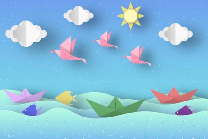 Matrimonio Tema Origami : Origami facili a tema estate donnad