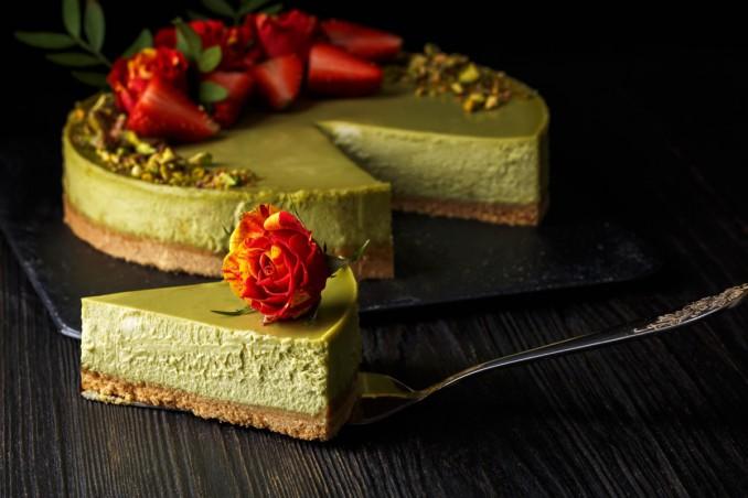 cheesecake al pistacchio, ricetta, cucina