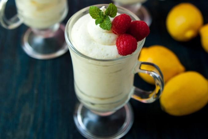 crema fredda, limone, ricetta panna
