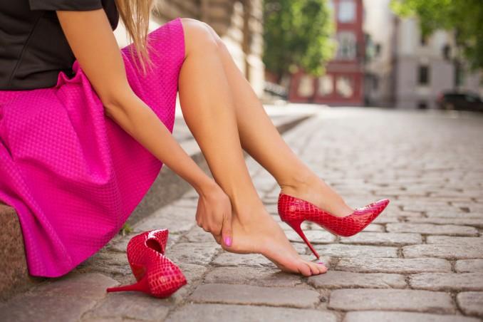 piedi, donna