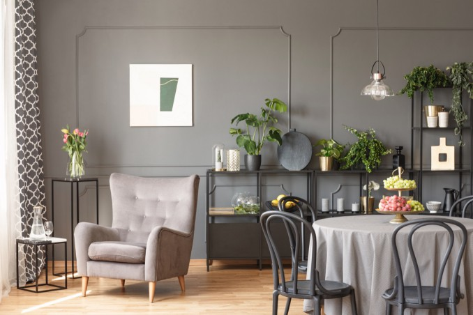 Soggiorno moderno in bianco e grigio 5 idee di arredo for Arredamento grigio