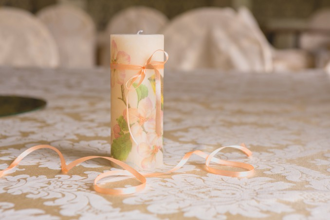 decorare candele, candele decoupage