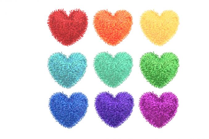 Pon pon a forma di cuore cbda7f553bc7