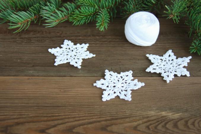 orecchini fiocco neve crochet