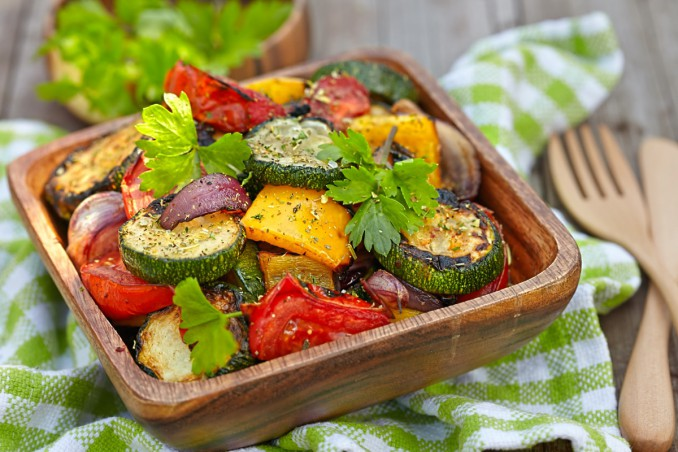 peperonata, melanzane, zucchine