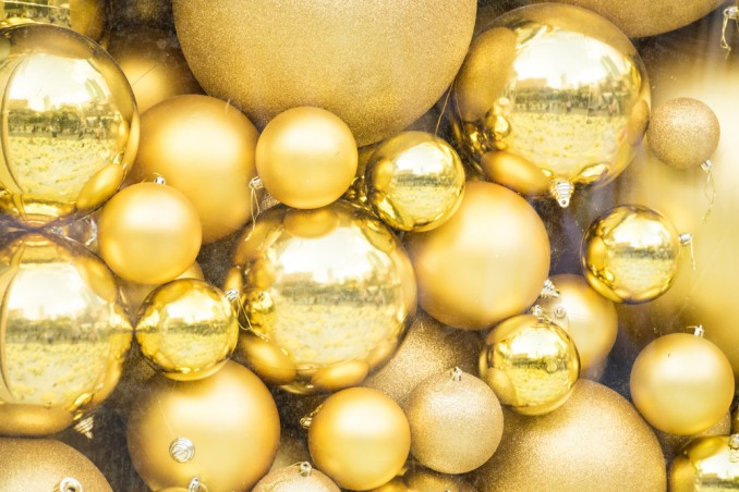 palline natalizie particolari dorate fai da te donnad