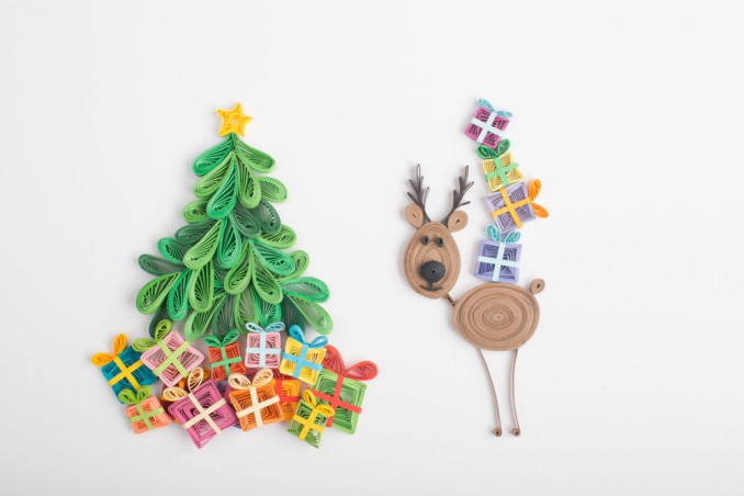 decorazioni natalizie quilling