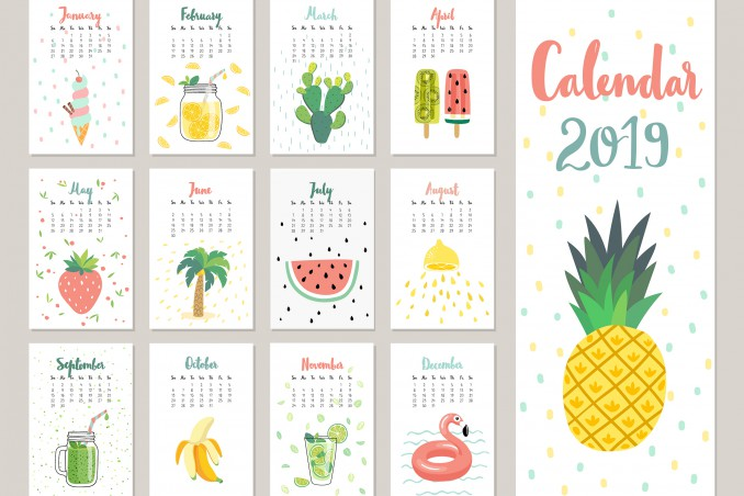 Modelli Calendario 2019.6 Modelli Gratis 1 Da Non Perdere Donnad