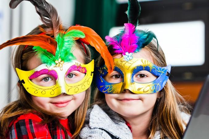 maschere di Carnevale, bambini, lavoretti