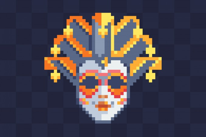 pixel art carnevale, coding carnevale