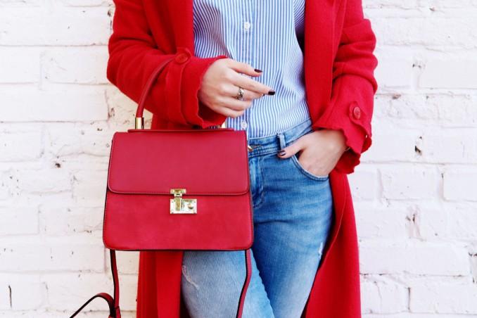 abbigliamento, rosso, vestirsi