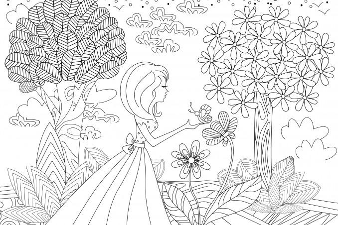 Disegni Da Colorare Primavera.7 Disegni Da Incanto Donnad