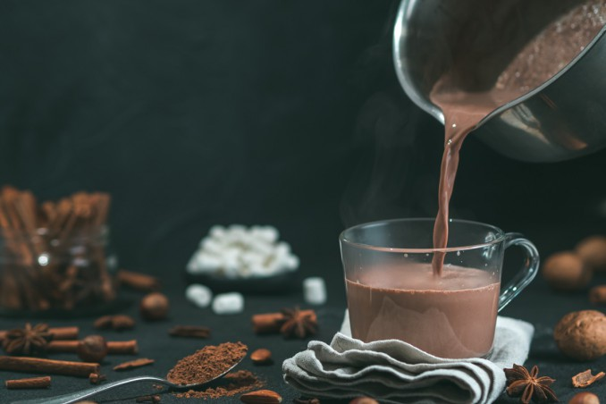 cioccolata, cacao, acqua