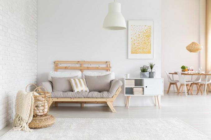 soggiorno, stile nordico, arredamento scandinavo