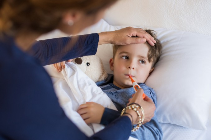 bambino con febbre
