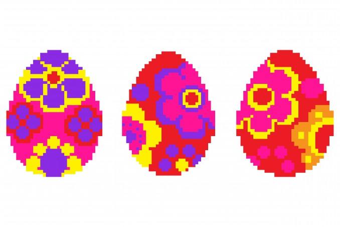 pixel art pasqua, coding pasqua