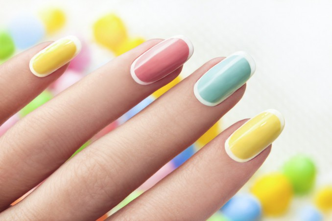 nail art, colori pastello, unghie