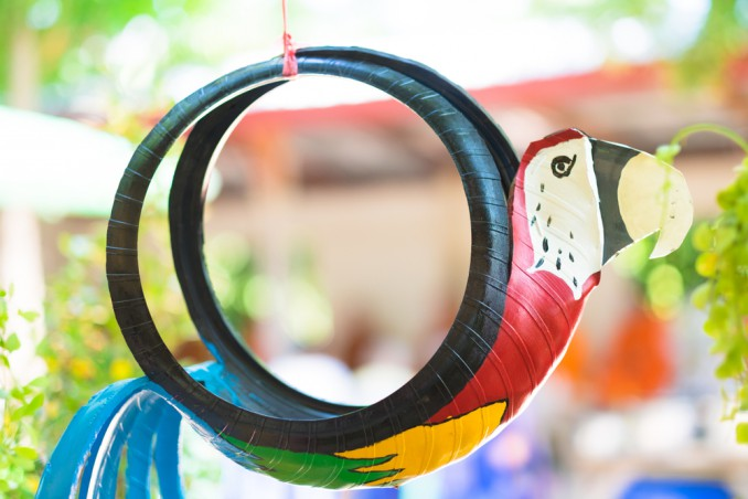 riciclo creativo gomme auto, riciclo creativo pneumatici