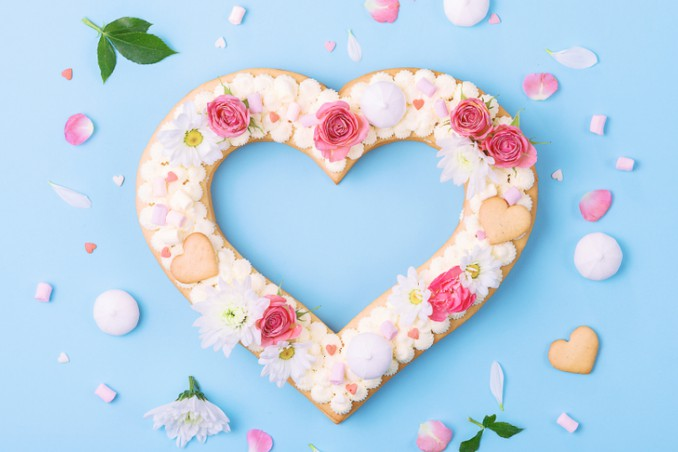 alphabet cake cuore, alphabet cake decorazioni