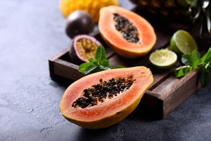 papaya, pulizia, taglio