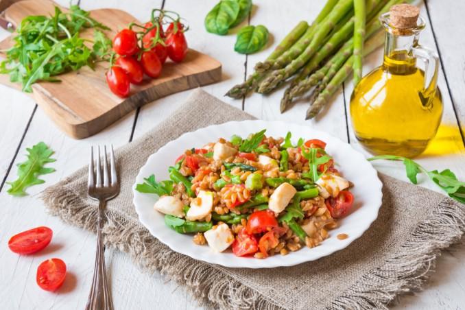 insalata di farro, ricetta estiva, verdure