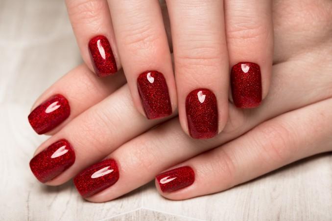 nail art, estate 2019, rosso