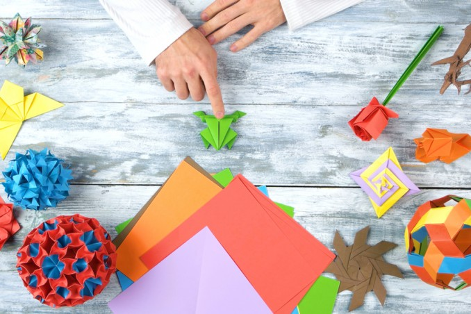 rana che salta origami