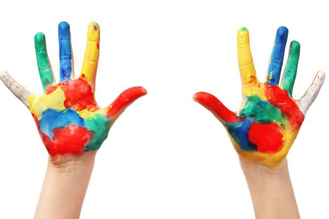 dipingere con mani
