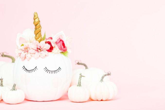 unicorno fai da te, unicorno zucca, come fare unicorno, lavoretti zucca