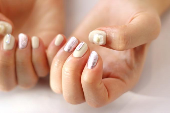 nail art, bianco, decorazione unghie