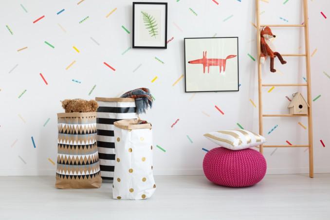 decorare pareti washi tape, decorare pareti idee, washi tape idee