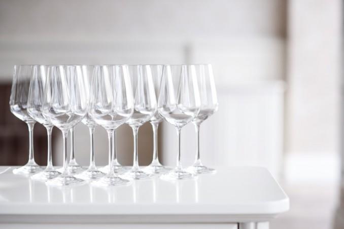 pulizia bicchieri cristallo, come fare, cene formali