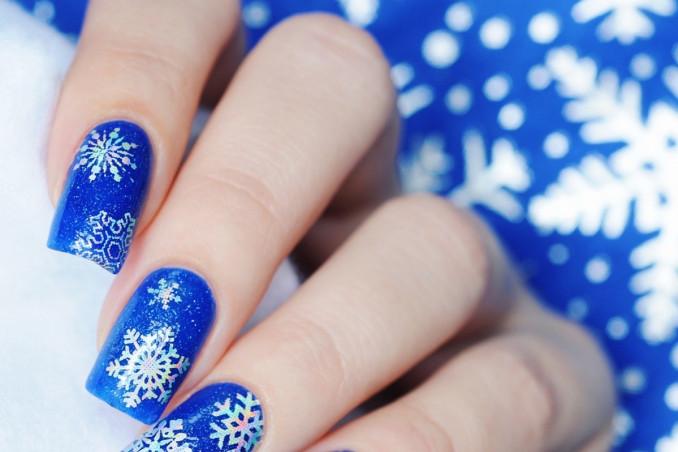 nail art, fiocchi di neve, decorazione unghie