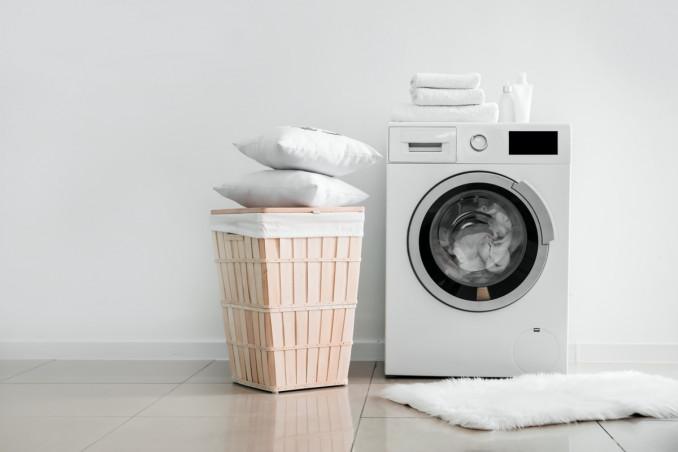 pulizia della lavatrice, aceto bianco, sale grosso