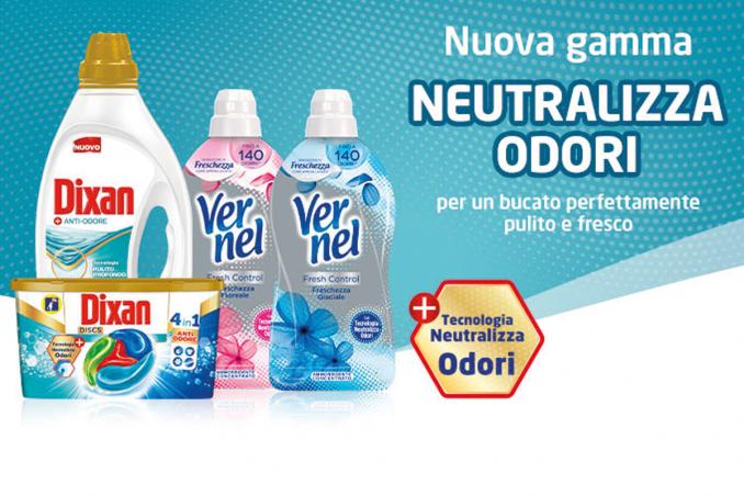 dixan neutralizza odori, vernel neutralizza odori, togliere cattivi odori