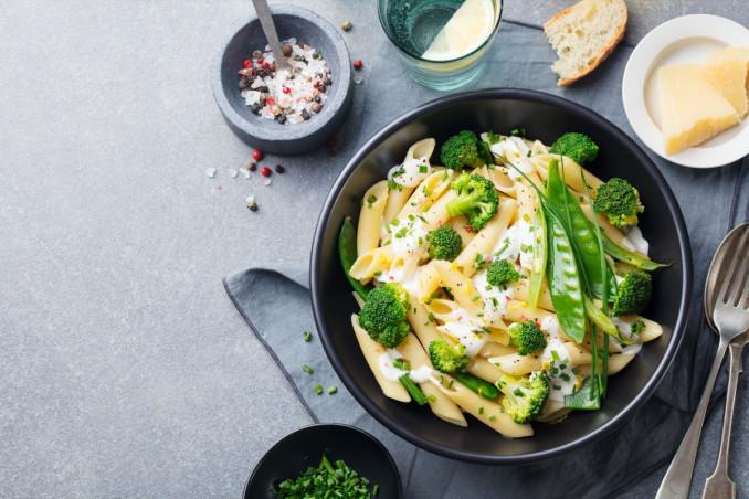 pasta, verdura, ricotta