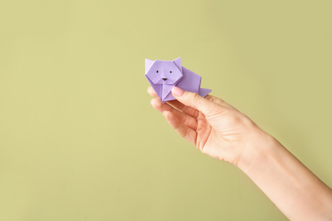 gatto origami