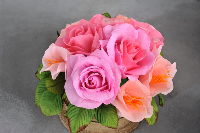 rosa carta crespa fai da te, rosa carta crespa tutorial, rosa carta crespa spiegazioni