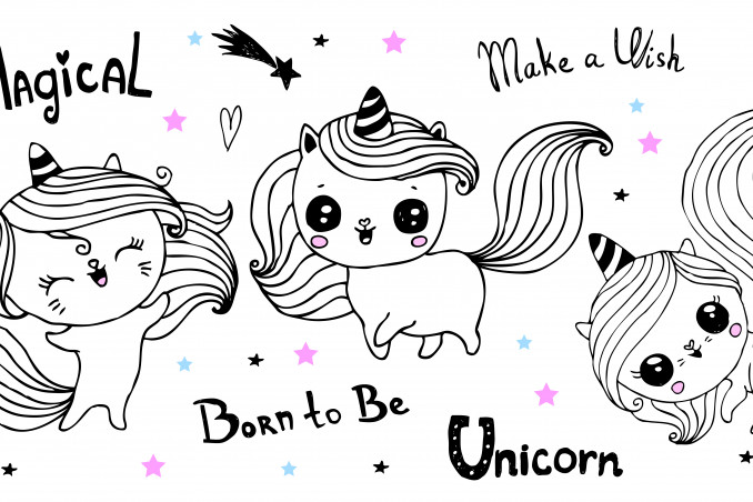 Unicorno Da Colorare.Disegni Unicorno Kawaii Da Colorare 7 Immagini Gratis Da Non Perder Donnad