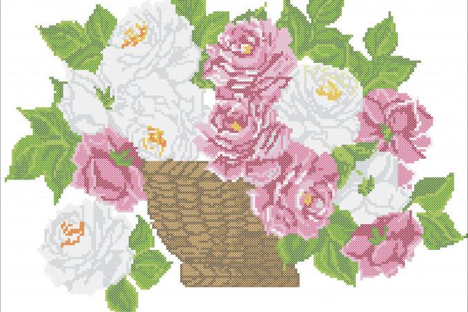 schemi punto croce fiori, punto croce fiori