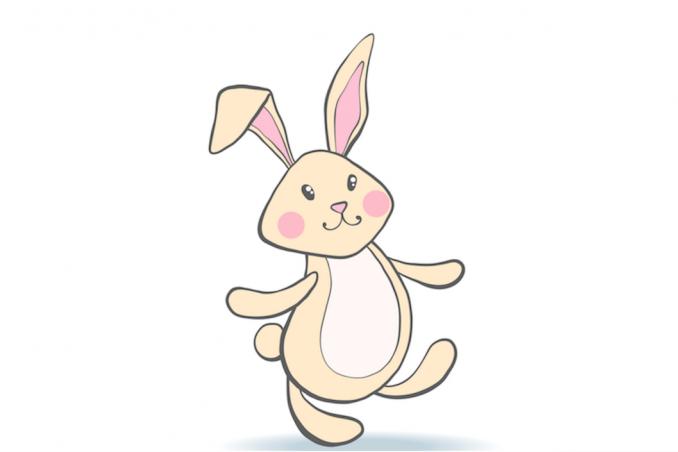 Il coniglietto pasquale da disegnare e colorare