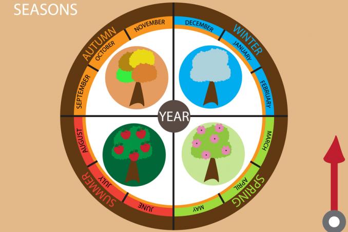 stagioni spiegazione bambini